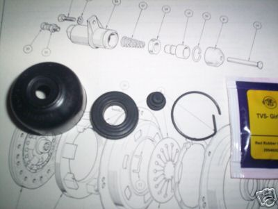 CLUTCH SLAVE CYLINDER REPAIR SEALS KIT (Triumph TR4a)