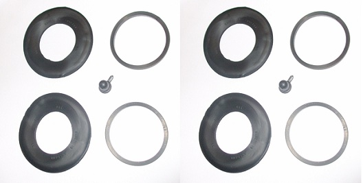 REAR BRAKE CALIPER REPAIR SEALS KITS x2 (Daimler Dart SP250) (1959- 64)