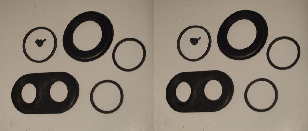 FRONT BRAKE CALIPER REPAIR SEALS KITS x2 (Jaguar E Type) (Series 2 Only) (1968- 71)