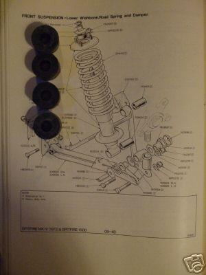 FRONT DAMPER TOP BUSHES x4 (Triumph Herald & Vitesse) (1959- 71)