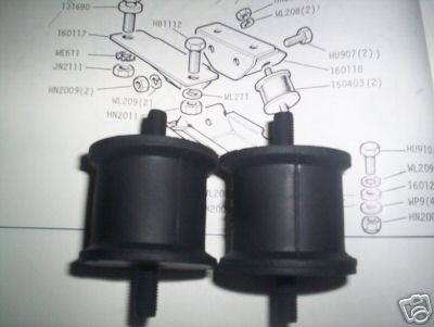 GEARBOX MOUNTS x2 (Triumph Stag) (1970- 77)