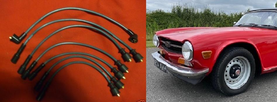 IGNITION HT LEADS SET (Triumph TR5 & TR6) (1967- 76)
