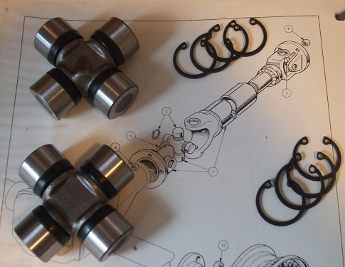 UNIVERSAL JOINTS x2 (Triumph Mayflower) (1949- 53)