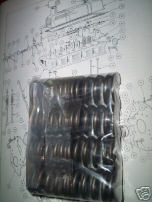 ENGINE VALVE SPRINGS x8 (MG Midget 1500) (Dec 1974- 79)