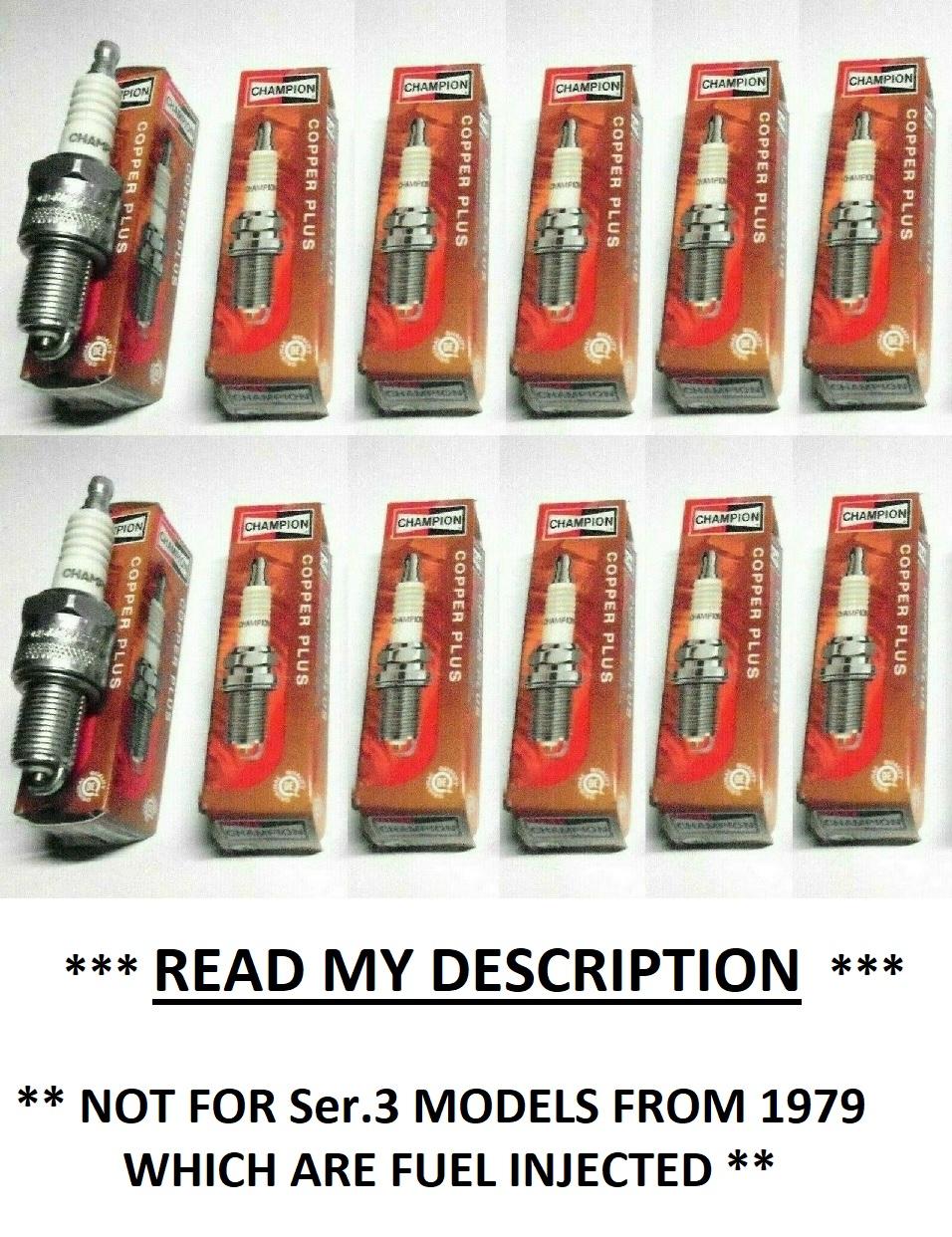 SPARK PLUGS x12 (Jaguar XJ12) (Ser.1&2 Only) (V12, 5.3 Litre) (** 1972- 79 Only **)