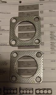 EXHAUST DOWNPIPE GASKETS x2 (Jaguar Mk7, Mk8 Mk9)