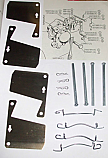 FRONT BRAKE PAD FITTING KIT - PINS & SHIMS (Rover P6 2000) (From Jun 72- 77)