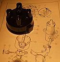DISTRIBUTOR CAP (Triumph Spitfire Mk1, Mk2, Mk3 & Mk4) (1962- 74)