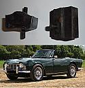 FRONT ENGINE MOUNTS x2 (Triumph TR4a) (Square Type) (1965- 67)