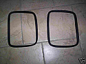 REAR DOOR WINDOW RUBBER SEALS x2 (Mini Van & Clubman)