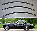 FRONT & REAR BRAKE HOSES x3 (Jaguar XK120 & XK140) (1948- 57)