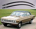 FRONT BRAKE HOSES x2 (Vauxhall Ventora FD) (3300cc) (1967- 72)