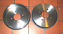 BRAKE DRUMS REAR x2 (Triumph TR3 TR4)  (** See Chassis Numbers **)