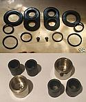 REAR BRAKE CALIPER PISTONS & SEALS x6 (Fiat 1500L 1500S 1600 1800 2300) (1961- 69)