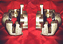 FRONT BRAKE CALIPERS x2 (Lotus Elan) (** From 1966- 74 **) (** TOP ENTRY **)