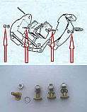 HANDBRAKE PAD FITTING SCREWS BOLTS KIT (Aston Martin DB4) (Nov 1960- )