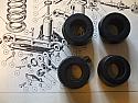 REAR DAMPER BUSHES x4 (Triumph TR2 TR3 TR4) (1953- 65)