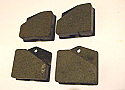 HANDBRAKE PADS (Jensen Interceptor) (** 1966- Jun 68 Only **)