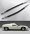 REAR BRAKE HOSES x2 (Lotus Europa) (S1, S2, Twin Cam & Special) (1966- 75)