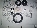 CLUTCH MASTER CYLINDER REPAIR SEALS KIT (MG Magnette Mk4) (1961- 68)