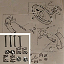 REAR BRAKE SHOE FITTING KIT (Ford Capri Mk2) (1600XL, 1600GT, 2000GT) (Mar 74- 75 Only)