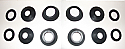 REAR BRAKE CALIPER REPAIR SEALS KITS x2 (Facel Vega HK500) (1960- 64)