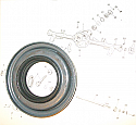 FRONT DIFFERENTIAL AXLE PINION OIL SEAL x1 (Jaguar S Type) (1963- 68)