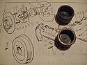 FRONT BRAKE CALIPER PISTONS x2 (Vauxhall Viva HA & 90) (1963-66)