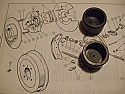FRONT BRAKE CALIPER PISTONS x2 (Triumph Vitesse 1600 & Herald 'Type 12')