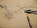 HANDBRAKE CABLE - BODY LENGTH (Triumph TR2 TR3 TR4) (1953- 65)