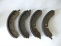 REAR BRAKE SHOES SET (MG Midget) (1961- 63 Only)