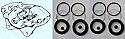 FRONT BRAKE CALIPER REPAIR SEALS KITS x2 (Peugeot 204) (** From Aug 66- 76 **)