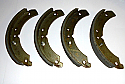 FRONT BRAKE SHOES SET (Ford Anglia Prefect 100e, 107e & 108e) (** From 1958- 62 **)