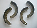 REAR BRAKE SHOES SET (TVR Grantura Mk3, Griffiths 200) (** From 1962- 66 **)