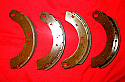 "REAR BRAKE SHOES SET (Triumph TR3 & TR3a) ( ** Girling 10"" Only ** ) (From 1957- 59 Only)"