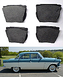 FRONT BRAKE PADS SET (Ford Consul, Zephyr & Zodiac Mk2) (1960- 62)