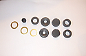CLUTCH / BRAKE MASTER CYLINDER REPAIR SEALS KIT (MG Midget Mk1 & Mk2) (Drum/Drum) (1961- 63)