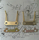 REAR HANDBRAKE PAD FITTING FORKS SPRINGS (Jaguar E Type) (** From Car 5000 Onwards **)