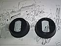DOOR CHECK STRAP SEAL x2 (Triumph TR4 TR4a TR5 TR6)