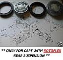 REAR WHEEL HUB BEARING KIT (**Rotoflex *) x1 (Triumph Vitesse) (1968- 71)