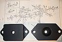 SANDWICH MOUNTS x2 (Jaguar Mk1, Mk2,  S-Type, Daimler V8 250) (1959- 69)