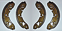 FRONT BRAKE SHOES SET (Reliant Kitten & Fox) (1975- 90)