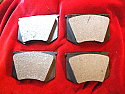FRONT BRAKE PADS SET (Triumph TR3, TR3a, TR4) ( ** See Chassis No's ** ) (1956- Jan 61 Only)