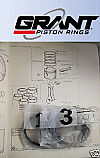 PISTON RINGS SET Std (Triumph TR250, TR5 & TR6)