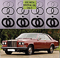 FRONT BRAKE CALIPER REPAIR SEALS KITS x2 (Rolls Royce Camargue) (** From 1979- 86 **)