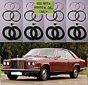 FRONT BRAKE CALIPER REPAIR SEALS KITS x2 (Rolls Royce Camargue) (** From 1979- 86 **)