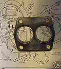 EXHAUST DOWNPIPE GASKET (Triumph TR5 TR6) (** Fuel Injected **) (1967- 76)