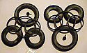 FRONT BRAKE CALIPER REPAIR SEALS KITS x2 (De Tomaso Deauville & Longchamp) (1972- )