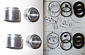 REAR BRAKE CALIPER PISTONS & SEALS (Aston Martin V8) (Volante & Vantage) (1977- 89)
