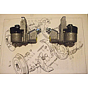 REAR BRAKE WHEEL CYLINDERS x2 (Humber Super Snipe) (Ser.2) (3.0 Litre) (1959- Oct 60 Only)